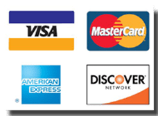 Accepted forms of credit card payment